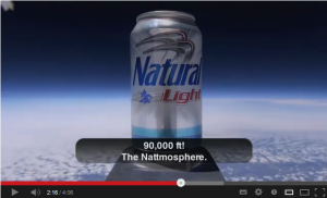 4 Natty Light First Beer In Space HD