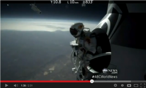 Skydiver Jumps From Edge of Space