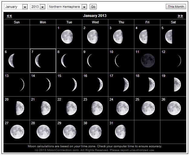 Is the moon an optical illusion the wild heretic phases of the moon january 20121 sciox Image collections