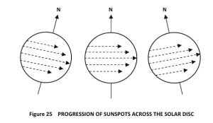 sunspot progression during a full year